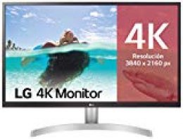 "LG 27UL500-W - Monitor 4K UHD de 68,6 cm (27"") con Panel IPS (3840 x 2160 píxeles, 16:9, 300 cd/m², sRGB >98%, 1000:1, 5 ms, 60 Hz) Color Blanco"