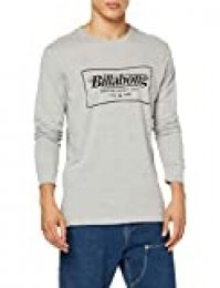 BILLABONG TRD Mrk LS tee Camiseta, Gris (Grey Heather 9), One Size (Tamaño del Fabricante: S) para Hombre