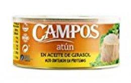 Campos Atún en Aceite de Girasol Lata de 650 g Peso escurrido - 750 g