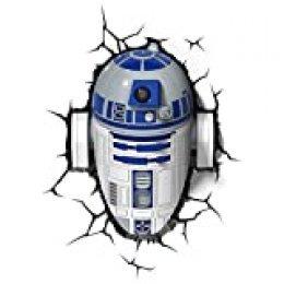 Star Wars FX14233 Lampara 3D de Pared R2 D2, Multicolor