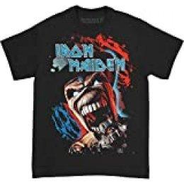 Iron Maiden Wildest Dream Vortex Camiseta Manga Corta, Negro, 2XL para Hombre