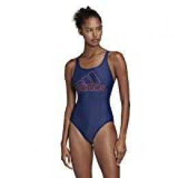 adidas Fit Suit Bos Traje de Baño, Mujer, Tech Indigo/App Solar Red, 36