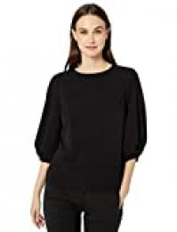 Marca Amazon - Lark & Ro Stretch Twill Full 3/4 Sleeve Top Mujer