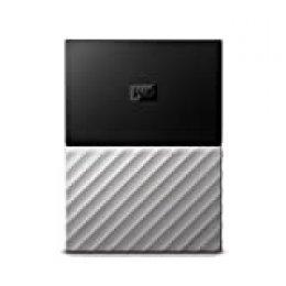 Western Digital My Passport - Disco Duro portátil y Software de Copia de Seguridad automática para PC, Xbox One y Playstation 4, Acabado metálico, Negro/Gris