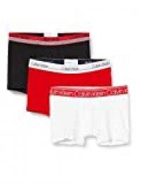 Calvin Klein Trunk 3pk Bañador, Blanco (White/Black/Red Alert Wbr), X-Large para Hombre