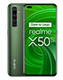 "realme X50 Pro – Smartphone 5G de 6.44"", 8 GB RAM + 128 GB ROM, procesador OctaCore Qualcomm Snapdragon 865, cuádruple cámara AI 64MP, MicroSD, Moss Green"