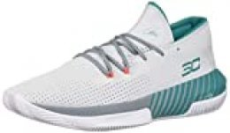 Under Armour Sc 3zer0 Iii Zapatos de Baloncesto Hombre, Gris (Halo Gray/Ash Gray/Teal Rush (101) 101), 36 EU