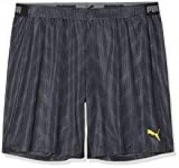 PUMA Ftblnxt Graphic Sr Pantalones Cortos de Fútbol, Hombre, Negro Black-Ultra Yellow, 3XL