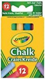 Crayola - 12 Tizas De Colores Antipolvo (0281) , color/modelo surtido