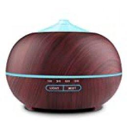 Tenswall Humidificador Ultrasónico 400ml, Difusor de Aromaterapia, Difusor de Aceites Esenciales, purificador de Aire con LED de 7 Colores de para luminoterapia en el Hogar, Oficina, SPA, Bebé
