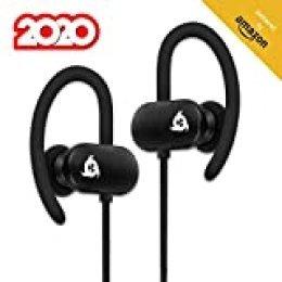 KLIM Fit Auriculares Bluetooth Deportivos Sonido + Batería de Larga duración, 5 años de garantía + Cascos inalámbricos para Correr, Gimnasio, Deporte + IPX4 Antisudor + NUEVOS 2020