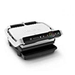Tefal Optigrill Elite GC750D Grill parrilla eléctrica interior y exterior, sensor grill automático, sellado rápido, 12 programas automáticos, apto para lavavajillas, antiadherente, función sandwichera