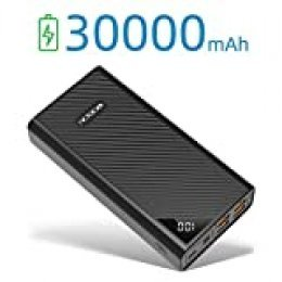 Cargador de teléfono portátil de alta capacidad de 30000 mAh, batería de respaldo externa, 4 puertos USB, pantalla LCD de carga rápida, 3 entradas Powerpack para iPhone, Samsung, iPad, Huawei, Nintendo Switch, Tablet
