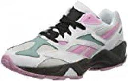 Reebok AZTREK 96, Gymnastics Shoe Womens, White/Jasmine Pink/Green Slate, 36 EU