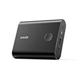 Anker PowerCore + 13400mAh Batería externa Powerbank Cargador portatil con Quick Charge 3.0, caja de aluminio Premium con salida de carga rápida Qualcomm para iPhone, iPad, Samsung y más (Negro)