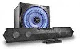 Trust Gaming GXT 668 Tytan - Barra de Sonido 2.1 con subwoofer con iluminación, Color Negro