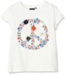 IKKS Junior tee-Shirt Symbole Peace Camiseta, Marfil (Blanc Cassé Rayé 19), 4 años (Talla del Fabricante: 4A) para Niñas