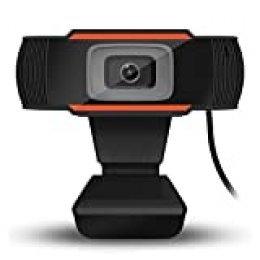 Lepeuxi 720P Cámara Web Computadora Cámara USB con Micrófono para Transmisión en Vivo Enseñanza EnLínea Video Llamadas, Conferencias, Juegos