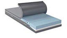 AmazonBasics Colchón 2 en 1 en espuma híbrida con 2 niveles de rigidez, H3 semi firme y H4 firme, 160x200 cm