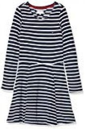 Tommy Hilfiger Essential Stripe Skater Dress, Vestido para Niñas
