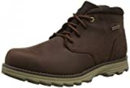 Cat Footwear Elude WP, Botas Chukka para Hombre, Rojo (Brunette Dark Brown), 40 EU