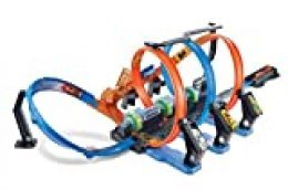 Hot Wheels Triple Looping, pista de coches de juguete (Mattel FTB65)