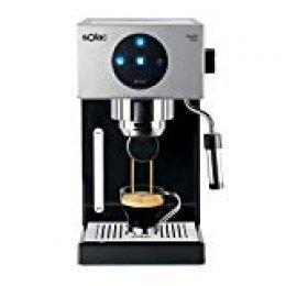 Solac CE4552 Squissita Touch - Cafetera espresso, 1.5 l, 1000 W, portafiltros para 1 o 2 cafés, táctil, auto-parada, auto-off, double cream, vaporizador