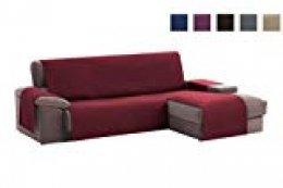 textil-home Funda Cubre Sofá Chaise Longue Adele, Protector para Sofás Acolchado Brazo Derecho. Tamaño -240cm. Color Rojo (Visto DE Frente)
