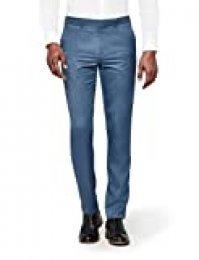 Marca Amazon - find. Pantalón de Traje Ajustado con Textura Hombre