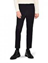 Marca Amazon - find. Tapered Slim Chino Pantalones Hombre, Negro (Black), 32W / 34L, Label: 32W / 34L