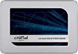Crucial MX500 500GB CT500MX500SSD1 Unidad interna de estado sólido-hasta 560 MB/s (3D NAND, SATA, 2.5 Pulgadas)