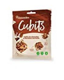 El Almendro - Cubits de Almendra y Chocolate con Leche 25 gr - Pack de 9 - Sin Gluten - Sin Aceite de Palma - Sin Aromas Artificiales