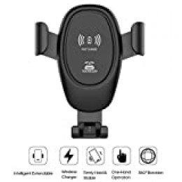 """Ajcoflt D12 Car Cargadores de Montaje sin Cables Soporte para teléfono de automóvil en Soporte de Clip de ventilación de Aire para Todos los teléfonos de 4-6 """""""