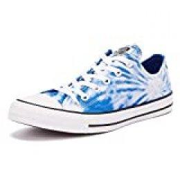 Converse All Star Tie Dye Ox Zapatillas Blancas/Azules para Hombre-UK 8 / EU 41.5