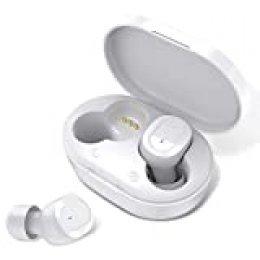 HolyHigh Auriculares Inalambricos Bluetooth Auriculares Bluetooth 5.0 Sonido Estéreo HiFi con Caja de Carga Micrófono Incorporado Cascos Bluetooth Inalámbricos para iOS Android
