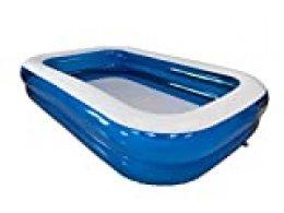KitGarden - Piscina Hinchable Rectangular 660 litros, 260x175x51cm, Azul/Transparente, Pool 262TAZ