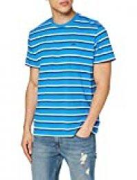 Lee Stripe tee Camiseta, Azul (Dipped Blue La), Medium para Hombre