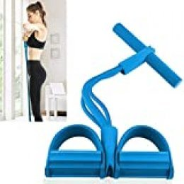 Discra Bandas de resistencia con asas para el hogar, equipo de fitness para pilates, bandas de resistencia Pedales para sentadillas, ejercicios de fitness flexibles para brazo, barriga