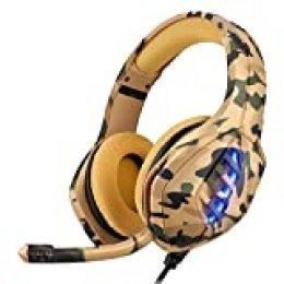 Moimhear Cascos Gaming, Auriculares Gaming, Auriculares Ps4, Auriculares Para Xbox One, Cascos Gaming con Sonido Envolvente y Reducción de Ruido