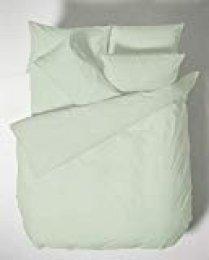 Bianca Plain Dyed Percale Nórdica + Funda de Almohada Cama 180 cm, 100% Aldodón, Green, 260X 240 + 2/ 50X110 cm 3