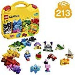LEGO Classic - Maletín Creativo, Juguete de Construcción Creativo con Piezas de Colores para Niños y Niñas a Partir de 4 Años, Incluye Útiles Compartimentos (10713)