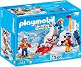 Playmobil-9283 Lucha de Bolas de Nieve, Azul, Naranja, Rojo, Color Blanco, Amarillo, Sin tañosllaños (9283)