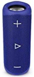 Sharp GX-BT280(BL) - Altavoz Bluetooth portátil 20 W estéreo, DSP, Bajos Profundos, hasta 12 Hotas, Recargable, Impermeable IP56, micrófono Llamadas, con Voice Assistant, Azul