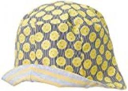 maximo Hut, Reversible Sombrero, Multicolor (Hellgelb-Navy-Zitrone 36), 55 para Niñas