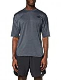 New Balance Reclaim Hybrid SS tee Camiseta, Hombre, Black Heather, Large