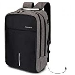 HALOViE Mochila Antirrobo USB Mochila para Portátil Multiusos Daypacks Seguridad para Ordenador Portátil 15.6'' Impermeable Mochila Escolares para Estudiantes Hombre Mujer Colegio Viaje Negocios