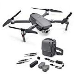 "DJI Mavic 2 Zoom con Fly More Kit con Drone Quadrocopter, Incluye Drone con Zoom Óptico de 24-48 mm, Cámara de Video, Sensor CMOS de 12MP 1/2.3"", Color Gris"