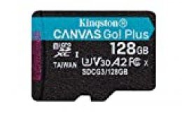 Kingston SDCG3/128GBSP Tarjeta microSD ( 128GB microSDXC Canvas Go Plus 170R A2 U3 V30 Sin SD adaptador)