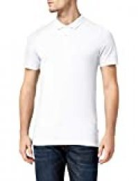 Jack & Jones  Jjebasic Polo SS Noos - Camiseta para Hombre, Blanco , Talla L