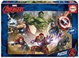 Educa Borrás-Serie Marvel Avengers Puzzle 1000 Piezas, Los Vengadores, Multicolor, (17694)